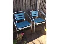 2 x garden chairs