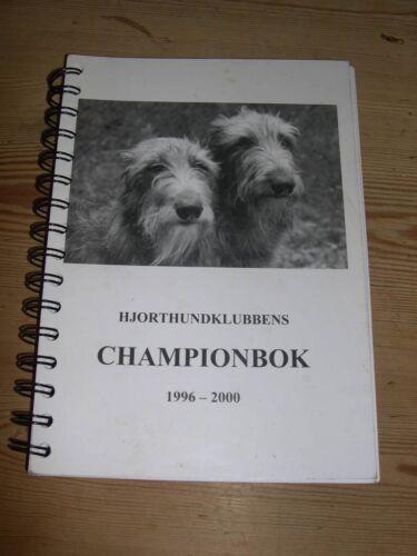 RARE SCOTTISH DEERHOUND DOG BOOK BY WALHOVD CHAMPIONBOK 1996-2000