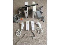 2 Nintendo Wii Games Consoles + Controllers