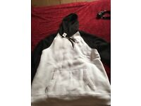 Hollister Men's black and white hoodie xl bnwt