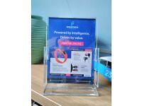A5 Acrylic leaflet dispensers x 8 Job Lot (New)