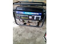 seldom used (twice) petrol generator