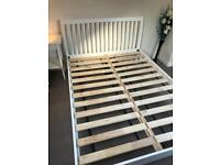 Double bed and bedside cabinet for sale