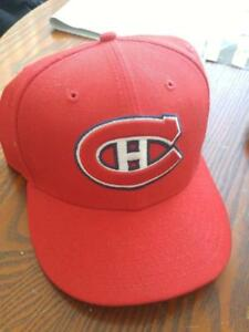 NEW Montreal Canadians Baseball Hat XL 100% Wool RED Brand New 7-3/4 or 61.5 cm Official NHL Merchandise