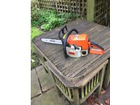 "Stihl D21 14"" petrol chain saw excellent condition, incl. spare chain and petrol can"
