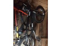 Mountain bike and kids stunt bike