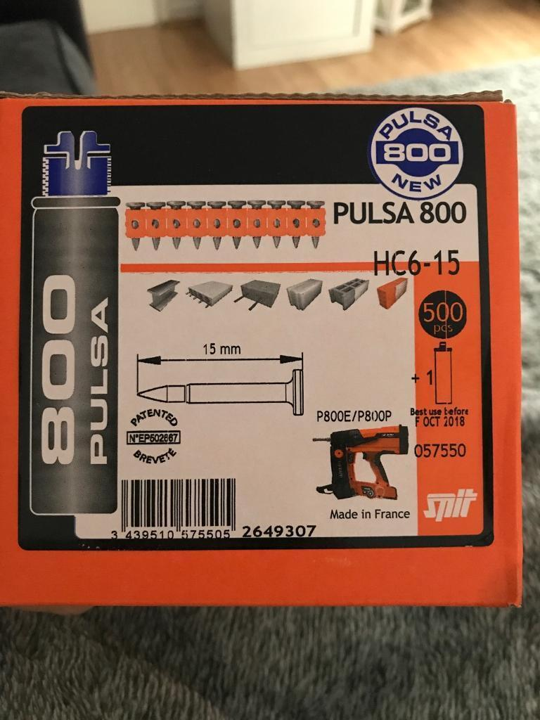 Spit pulsa 800 nails with gas BRAND NEW 2 x boxes £40