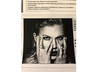 2 Taylor swift concert tickets - Saturday 23rd june