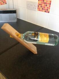 Wine bottle holder ideal Fathers Day gift. Wine not included. Pencoed