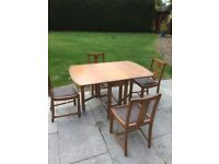 1930's Dining Table & 4 Chairs