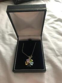 Sterling silver necklace and pendant set