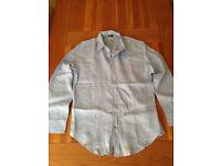 GAP Men's Blue Linen Shirt (XL) (never worn)