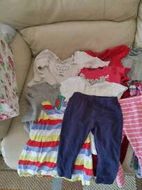 Bundle of baby clothes 9-12 girls