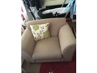 Gray sofa and arm chair