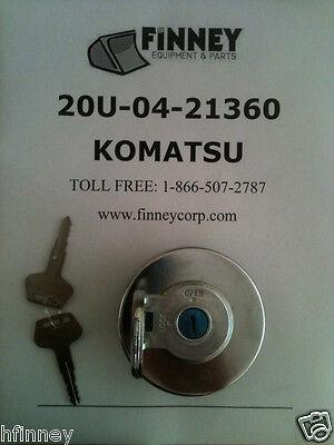 20u-04-21361 Komatsu Dozer Locking Fuel Cap 20u0421360 Bulldozer New With Keys