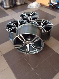 "20"" inch rims for BMW F10 F12 F13 F06 E60 E61 M343 style alloy wheels set R20 New"