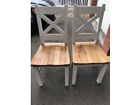 Solid wood chairs x 3