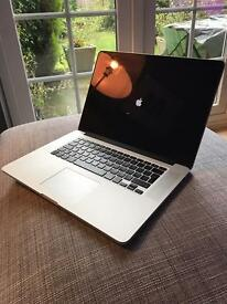 "MacBook Pro 15.4"" retina, 250Gb Flash storage, Intel Core I7, 16Gb Ram, Mid 2014"