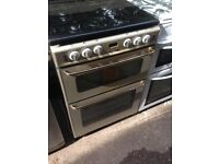 Silver Gas cooker 60cm....Mint free delivery