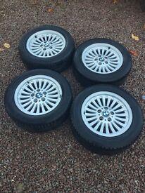 "BMW e39 fitment 16"" turbine alloy wheels"