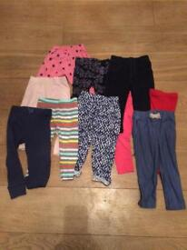Girls 18m to 24 m leggings bundle euc