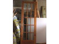 Internal Door - pine with glass panels
