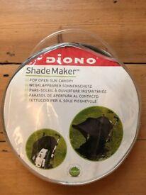 Pushchair Sunshade Canopy - Black Pop Up - Brand New