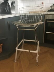 BRAND NEW HARRY BERTOIA STYLE METAL CHROME WIRE INDUSTRIAL BAR STOOLS