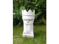 Chimney pot used as garden planter? painted white