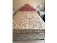 Double Bed, Headboard & bedding