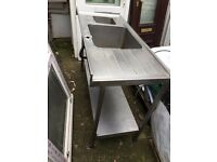 Industrial Stainless Steel Sink on legs £100