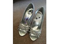 Silver heels for wedding or formal