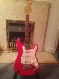 Fender mini squire stratocaster guitar