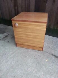 Bedside table wood brown shelf delivery available £7