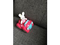 ELC bunny in car