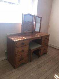 Double Pine Dressing Table
