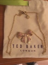 Ted Baker Pink Bow Necklace