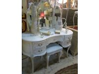 DRESSING TABLE LOUIS STYLE WHITE THREE WAY MIRROR HARRODS GREAT CONDITION