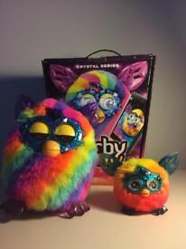 Furby Boom Rainbow, Crystal series, plus furbling