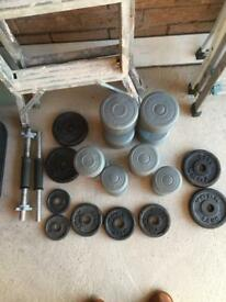 Selection of hand weights