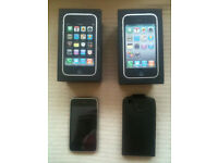 3 x iphone 3gs plus a brand new protective case and two chargers