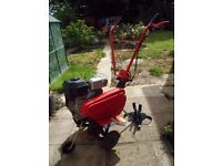 Garden Rotavator/ Tiller 4-Stroke 205 cc with forward and reverse gear in excellent condition.