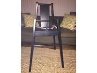 IKEA black high chair
