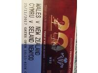 Row of 3 Wales v New Zealand Tickets Face Value Only in M15
