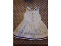 M&S 1 1/2 - 2 years white dress.