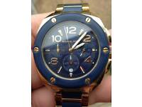 Michael korrs watch/ladies gold and blue Good condition