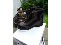 Pair of Studded felt and padded sole fly fishing wading boots., used for sale  South Queensferry, Edinburgh