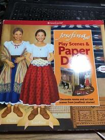 Play scene American Girl Paper Dolls Josephina