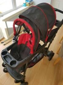 Graco ready2grow double pushchair