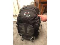 Osprey Stratos 34ltr Hiking Backpack DayPack - Black - Excellent Condition